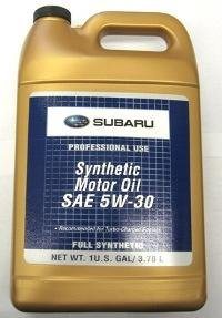Subaru SOA868V9285 / SOA427V1415  SAE 5W30 Synthetic Motor Oil - 1 Gallon