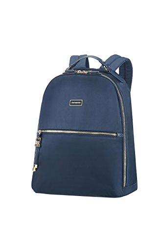 SAMSONITE Backpack 14.1' (Dark Navy) -Karissa Biz Casual Daypack, 39 cm, Blue