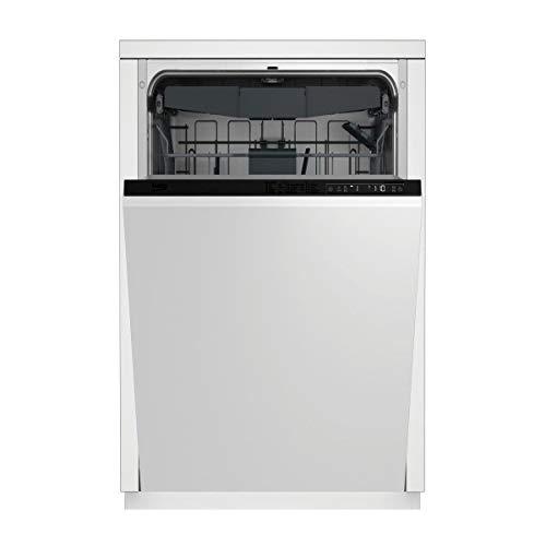Lave vaisselle encastrable Beko PDIS28120 - Lave vaisselle tout integrable 45 cm - Classe A++ / 47 decibels - 11 couverts - Tiroir a couvert