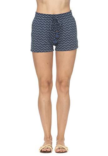 Ragwear Shorts Damen Aniko Zig ZAG 2011-50002 Blau Denim Blue 2010, Größe:XS