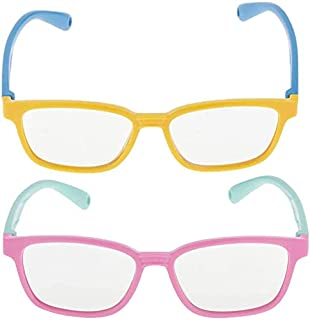 FENGLISUSU - FENGLISUSU 2PC Filtro de luz Azul Protección UV Gafas de computadora Marco de Silicona para niños