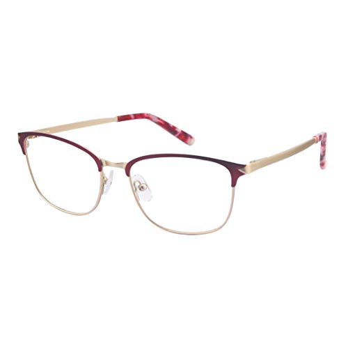 ProEyes Antlia, Gafas de lectura multifocales progresivas con bisagras de resorte, lente superior sin aumento, lente de resina anti luz azul (Red, 3.00 x)