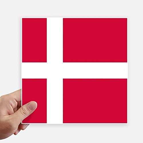 DIYthinker Drapeau National Danemark Europe Country Square Autocollants 20CM Mur Valise pour Ordinateur Portable Motobike Decal 4Pcs 20Cm X 20Cm Multicolor