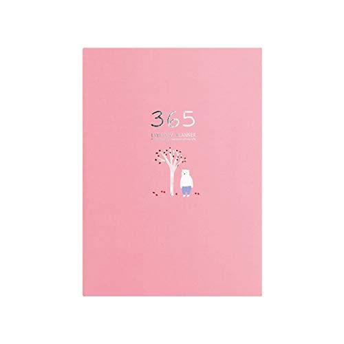JIACUO Cute Stationery Notebook 365 Planner Settimanale Mensile Giornaliero Agenda Agenda Quaderni Riviste Ufficio Aziendale Forniture Scolastiche
