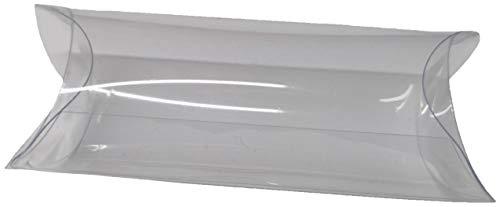Cupido&Company Lot de 50 boîtes à dragées en PVC transparent 6 x 4 cm