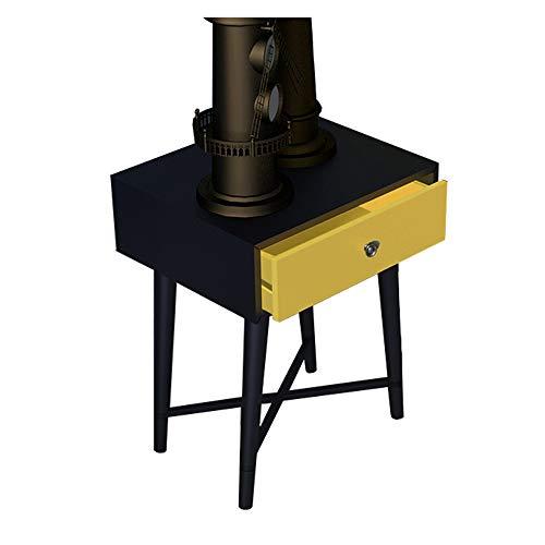 Lapdesk ZR-väggbord, 1 lådkonsol bordshylla, trä hall vardagsrum sovrum klädbyrå skrivbord möbler sparande utrymme (storlek: Svart + gul)