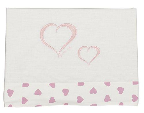 Happy Way Parure de lit pour enfant Motif cœurs Rose