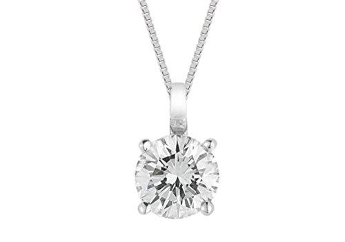 Diamant Solitaire Anhänger Weißgold FG VS/SI Qualität