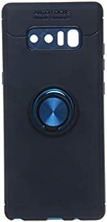 Auto Focus Back Cover With Magnetic Car Holder Ring For Samsung Galaxy Note 8, Blue