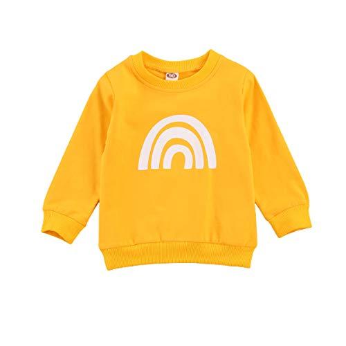 Geagodelia - Sudadera de manga larga para niña, diseño de leopardo, otoño, invierno, informal, ropa para niñas amarillo 4-5 años