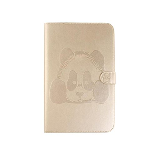 LEDMOMO PU-Leder Klappständer Abdeckung Panda Print Haut Shell Tablet Case für Samsung T560 (Golden)