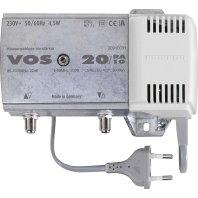 Kathrein VOS 20/RA-1G Hausanschluss-Verstärker (22dB, 1006MHz, Rückweg 5-65 MHz, KDG-Zertifiziert, für Kabelfernsehen)