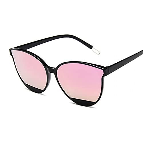 KFYOUXIN Gafas de Sol de Moda Mujer Metal Espejo Gafas de Sol MujerUV400