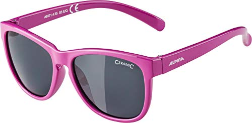 ALPINA Unisex - Kinder, LUZY Sonnenbrille, berry gloss, One Size