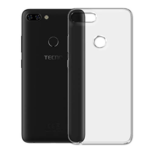 SKMO Protective Silicon Soft Transparent Shockproof Back Cover Case for Tecno Camon iTwin