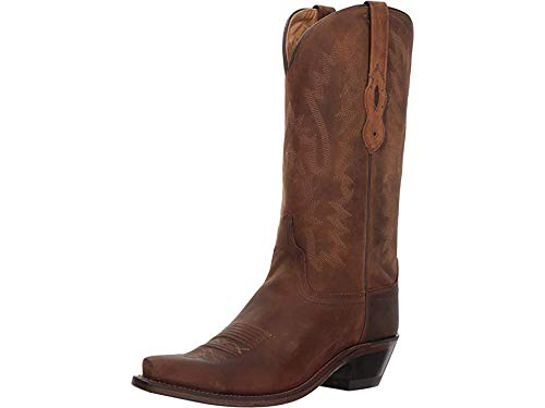 """Old West Women's 12"""" Classic Western Boot Snip Toe Brown 6.5 M"""
