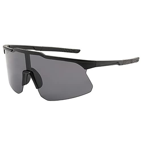 Bingdong Gafas de sol rectangulares para hombre, lente de PC, cierre suave, ultraligeras para conducción al aire libre