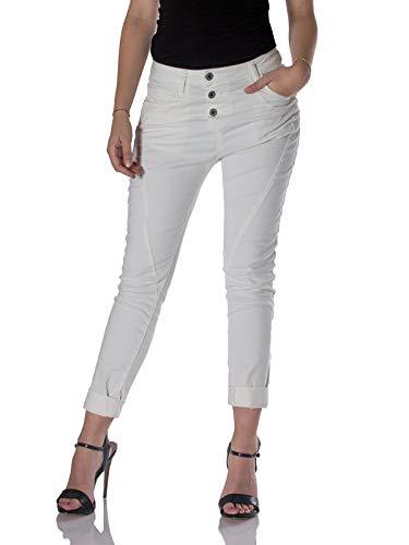 Please, Damen Jeans P78A Baggy, Baggy, Weiß XXS