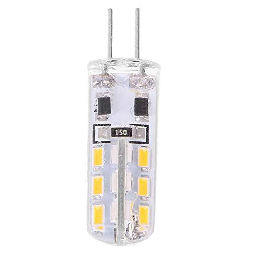 Xuniu G4 silicagel 3W 24 LED SMD 3014 koel/warm wit gloeilamp lamp DC 12
