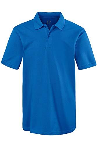 JP 1880 Herren große Größen Übergrößen Menswear L-8XL bis 8XL, Poloshirt, Oberteil, Knopfleiste, Hemdkragen, Pique, tiefblau L 702560 74-L