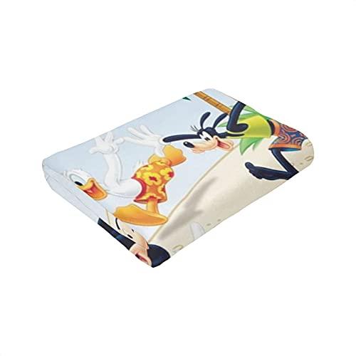 Mickey Cartoon Mouse Goofy Donald Duck Elegantes, exquisitas mantas, mantas súper suaves, aptas para niños y adultos, duraderas y cómodas, mantas súper suaves y cálidas de 202 x 152 cm