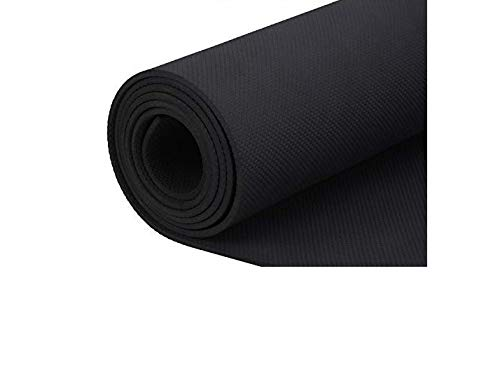 Yoga Sutra Anti Skid, Non Slip Eva Yoga Mat Gym and Flooring Exercise   Water and Sweat Resistance  Prenmium Quality by Yoga Sutra - 4mm (6mm, Black)