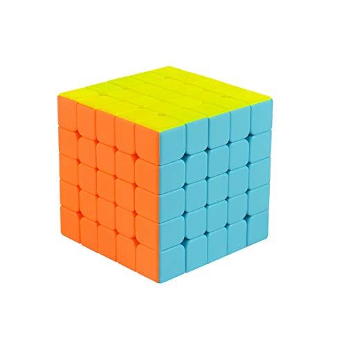 Cooja Cubo de Velocidad 5x5 Speed Cube, Cubo Magico 5x5x5 Smooth Magic Cube Puzzle Durable Regalo de Juguetes para Niños Niñas