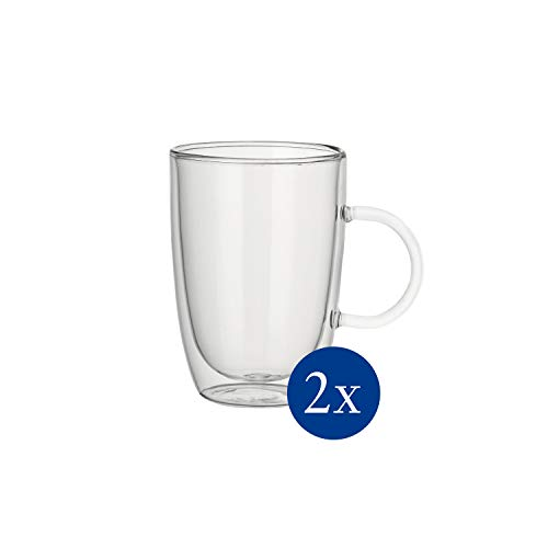 Villeroy & Boch Artesano Hot & Cold Beverages Tasse Universal, 2er-Set, 390 ml, Borosilikatglas, Klar