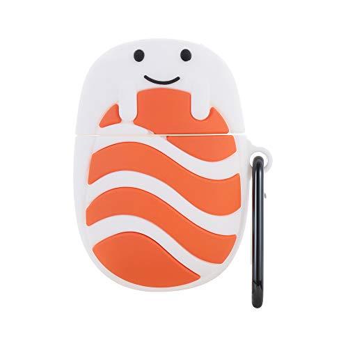 Schutzeinrichtung Abdeckung aus Silikon Abdeckung Bluetooth Earphone Kugel Reis Sushi für Ohrhörer Netter Cartoon Für Apple Airpods 1/2(Sushi)