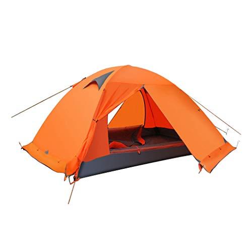 Baoblaze Tente de Camping Étanche Tente pour 2 Personnes avec Sac de Transport Camping Randonnée - Orange, 115cm