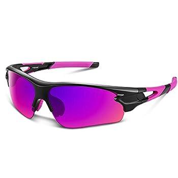 Polarized Sports Sunglasses for Men Women Youth Baseball Fishing Cycling Running Golf Motorcycle Tac Glasses UV400  Pink