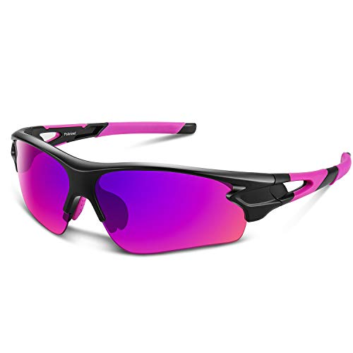 Polarized Sports Sunglasses for Men Women Youth Baseball Cycling Fishing Running TAC Glasses