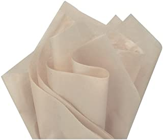 Flexicore Packaging | Tan Gift Wrap Tissue Paper | Size: 15 Inch X 20 Inch | Count: 10 Sheets | Color: Stand Stone Tan | DIY Craft, Art, Wrapping, Crepe, Decorations, Pom Pom, Packing & Party