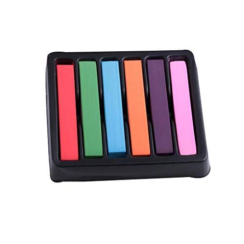 Centurrie Frauen-Mädchen-6 Farbe Temporary Waschbar DIY Haar Kreiden Dye Pens Weiche Pastelle Einmaliger Färben