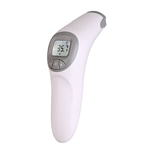 Fam-health Non Contact Infrared Digital Forehead Thermometer for Baby, Adult and Elderly - 20 Memory Recall- Fever Alarm, CE and FDA Approved [2018 New Version]