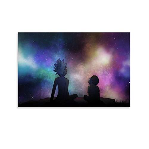DRAGON VINES Rick And Morty Look at The Stars Posters e impresiones sobre lienzo para decoración del hogar, comedor, 40 x 60 cm