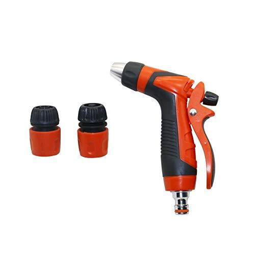 FUNRE Auto-Hochdruckreiniger Wasserpistole Kit mit Schlauch Schnellanschlüsse Stromanschluss Waschmaschine Sprühdüse Bewässerung Gun 1 Set (Color : Orange)