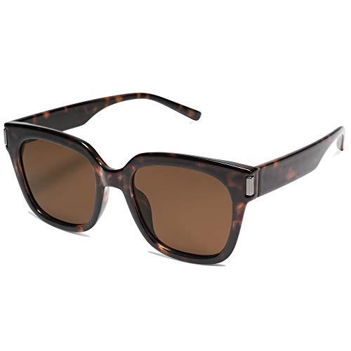 SOJOS Gafas de sol polarizadas para mujeres hombres de moda cuadradas gafas SJ2149