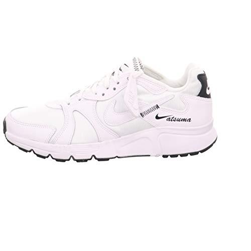 Nike Atsuma Womens CN4493-100 White/Black - Zapatillas de deporte para niña, talla 25-42, color blanco, piel/textil, Mujer, Blanco, negro., 42.5