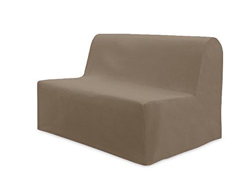 Soleil d'ocre Panama Housse BZ, Fodera per divano letto in cotone, Tortora (Taupe), 140 x 200 cm
