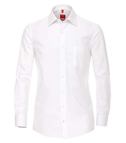 Redmond Herren Popeline Hemd unifarben Regular Fit 100% Baumwolle