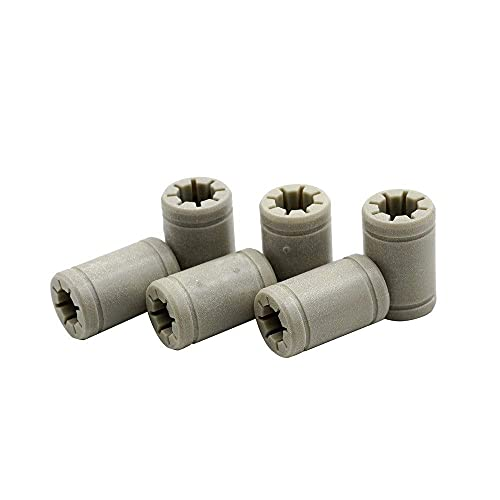 Neigei For TL-Smoother6pcs LM8UU 8 Mm Linear Ball Plastic Bearing Bushing For Anet A8 Prusa I3 3D Printer