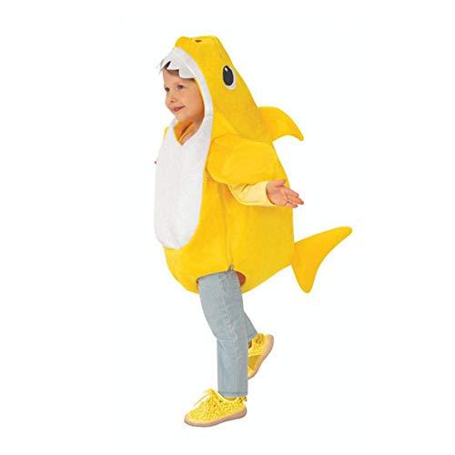 LZJE Party Kleider Cartoon Kostüme für Baby Unisex Kleinkind Familie Hai Cosplay Kostüm Kinder Halloween Dress Up Ocean-Themed, Gelb, XL