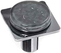 product image for Sietto M-1301-PC Geometric Square Glass knob with Metal Accent
