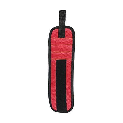 Pulsera magnética, con imanes fuertes Tornillos de correa Nails Bolsa de herramientas Bloques Bits Pulsera para reparación También para retener tornillos, clavos, bits de perforación, regalo de herram