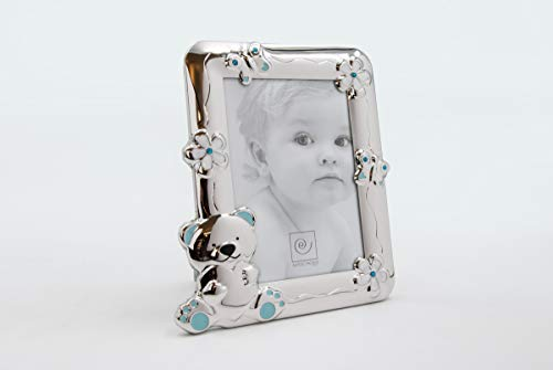 Mascagni A186 Cornice per foto singola Blu, Argento, celeste, plastica
