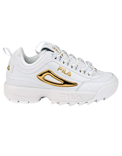 Fila Disruptor II Metallic Accent White/Gold/White 9