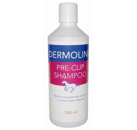 Dermoline Pre-Clip Shampoo Voor Paarden 500,l-reinigt en toon de huid