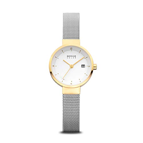 BERING Time | Women's Slim Watch 14426-010 | 26MM Case | Solar Collection | Stainless Steel Strap | Scratch-Resistant Sapphire Crystal | Minimalistic - Designed in Denmark