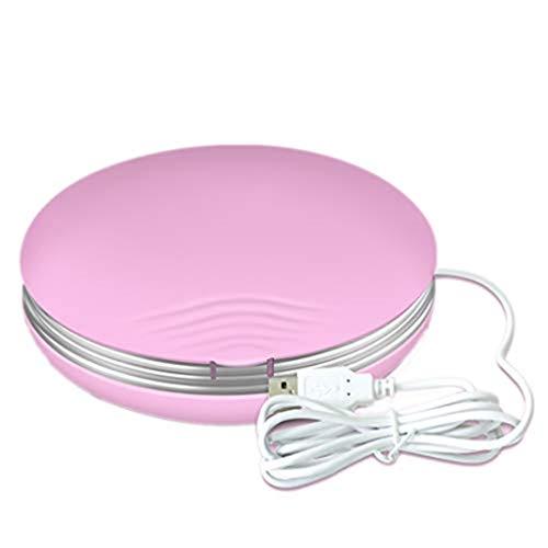 Ultraschall Kontaktlinse Automatische Reinigungsbox, 2ML 58KHz Mini Professional Kurzsichtigkeit Brillenreinigungsgerät Ultraschallreiniger,Pink